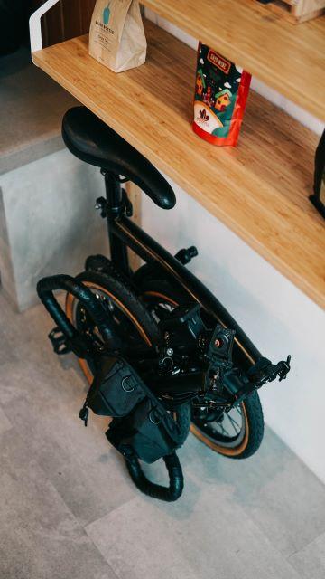 Folding Bike under table