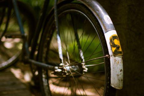 Mudguard on bike